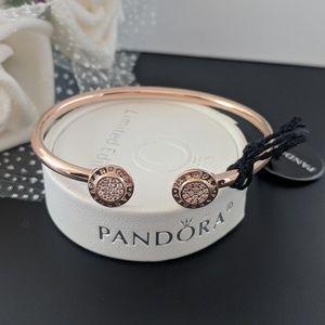 Authentic Pandora Signature Rose Gold Tone Bracele